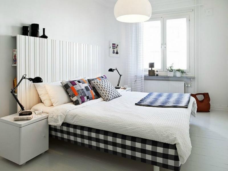 Белый цвет в интерьере спальни фото (12)