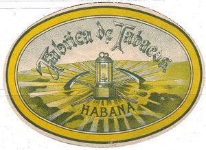 Вкладыш табачной фабрики Habana