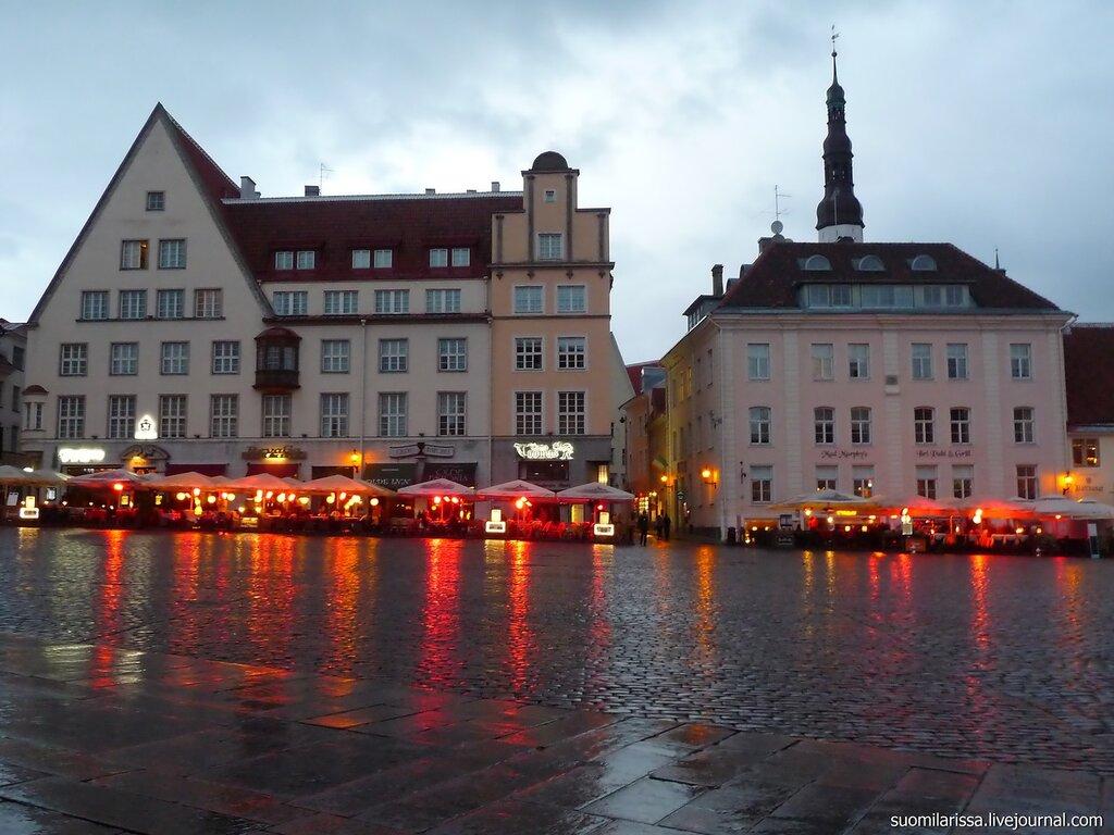 Ратушная площадь в дождь..