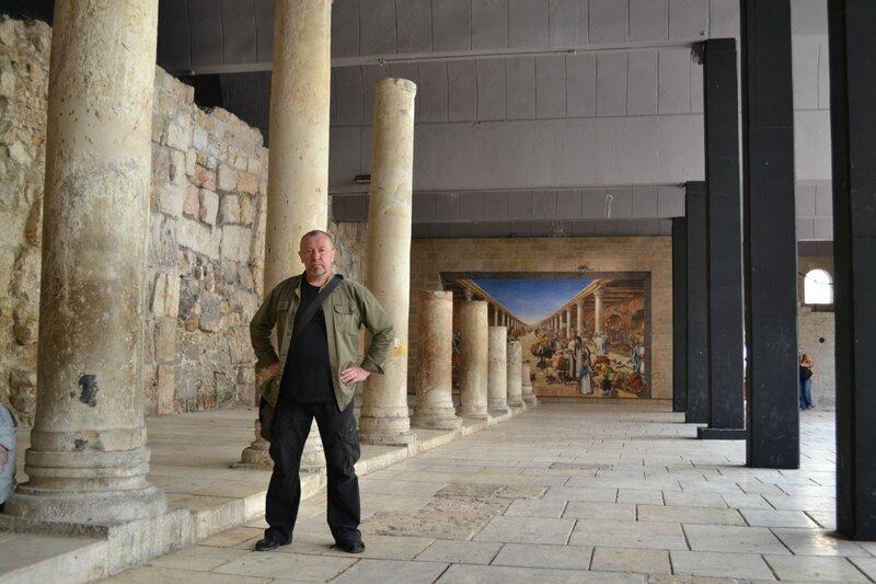 День восьмой. Руины римской Кардо. По старому городу. Иерусалим. Израиль. 2013.