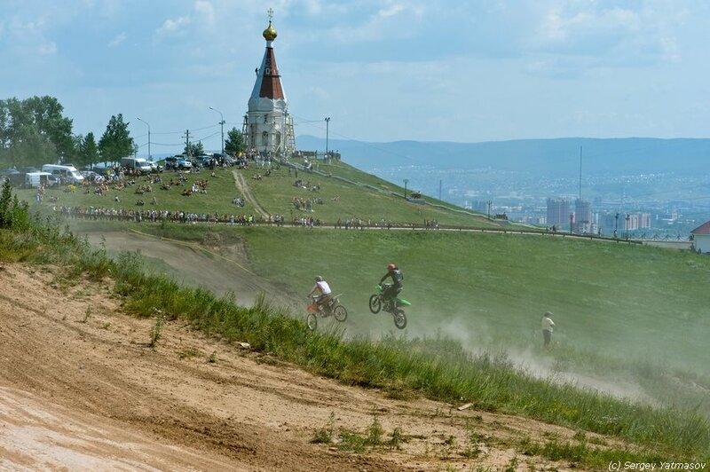 Мотокросс. Кубок Красноярья 22 июля 2012.