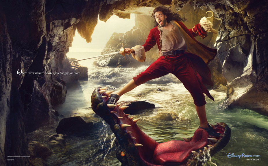 Disney's Year of a Million Dreams by Annie Leibovitz - Russell Brand as Captain Hook from Peter Pan / Рассел Брэнд в образе Капитана Крюка