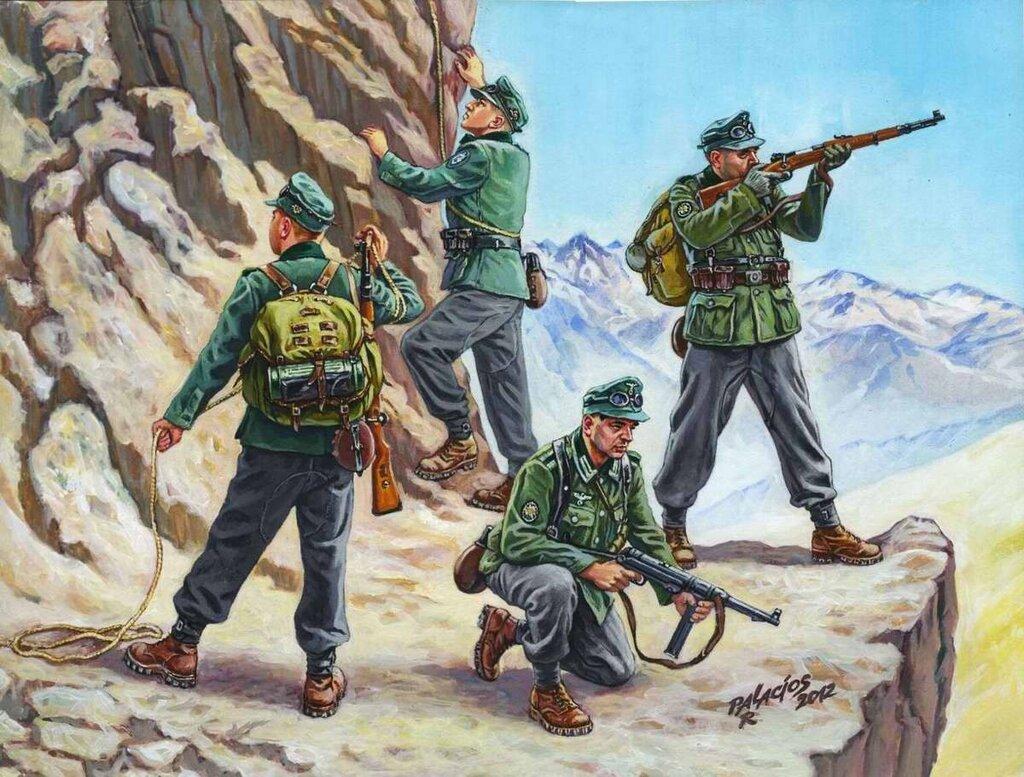 Немецкие альпийские стрелки (Роберто Паласиос-Фернандес)