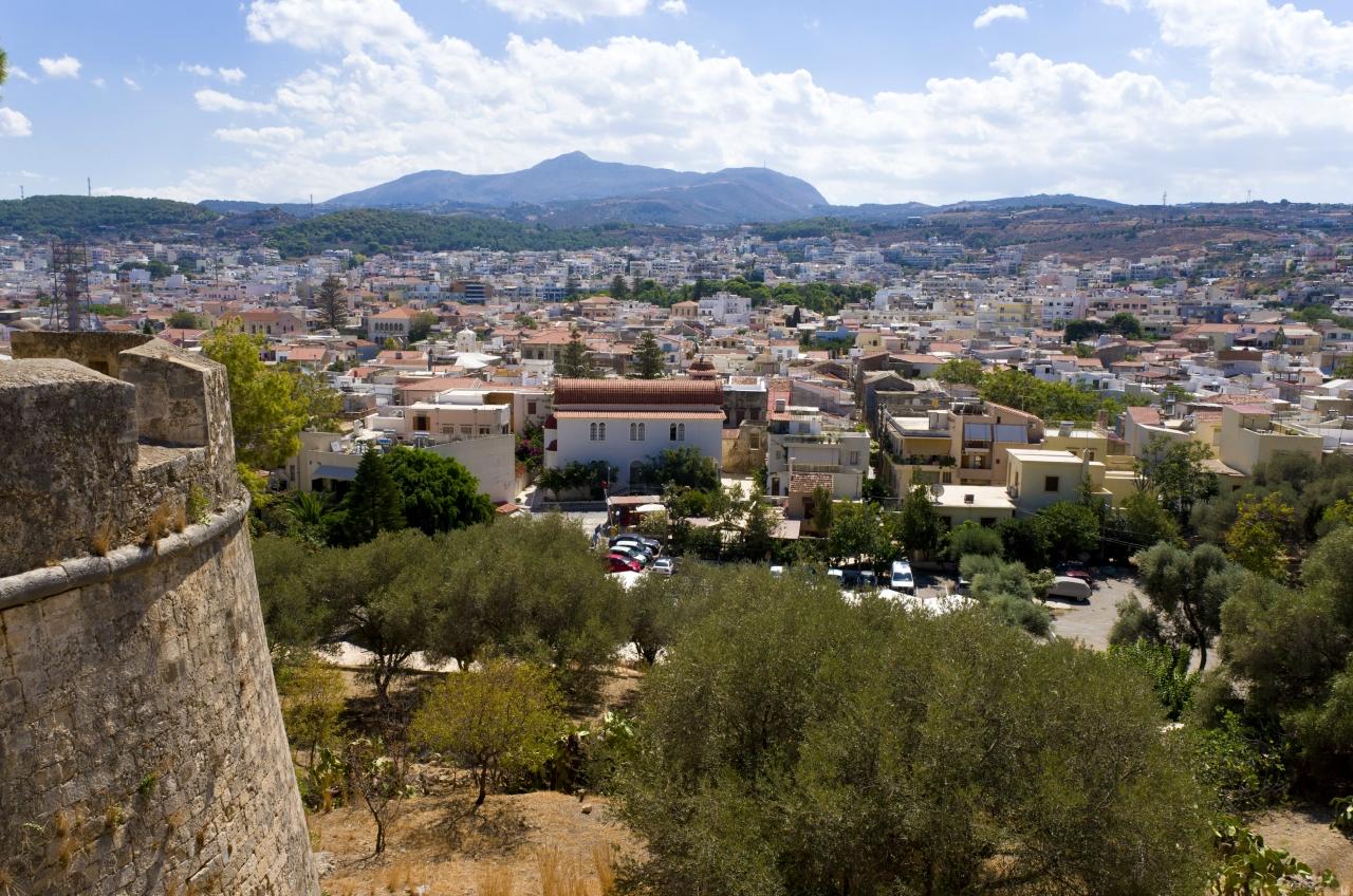 Вид с крепости на Ретимно