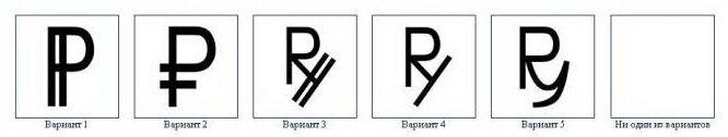 Россиянам предложили выбрать новый символ рубля