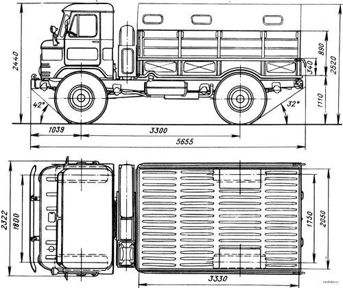 Чертеж ГАЗ-66