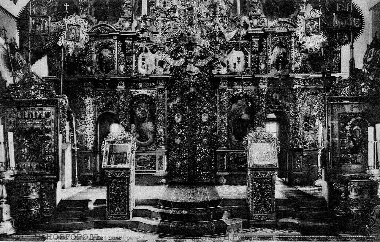 Иконостас Церкви Пресвятой Богородицы (она же Строгановская) на Рождественской улице в Нижнем Новгороде