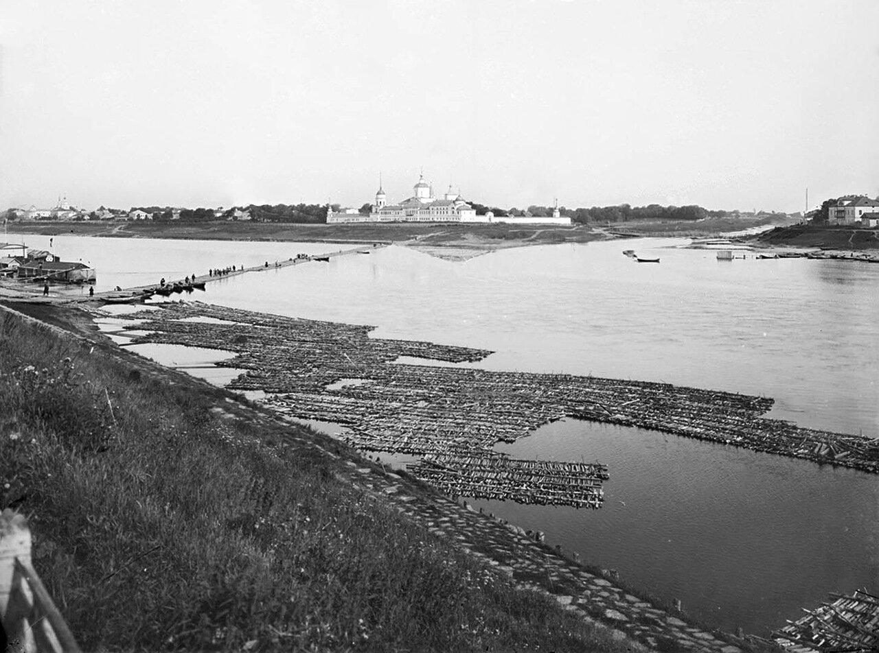 Отроч мужской монастырь и слияние рек Волги и Тверцы. 1903 г.