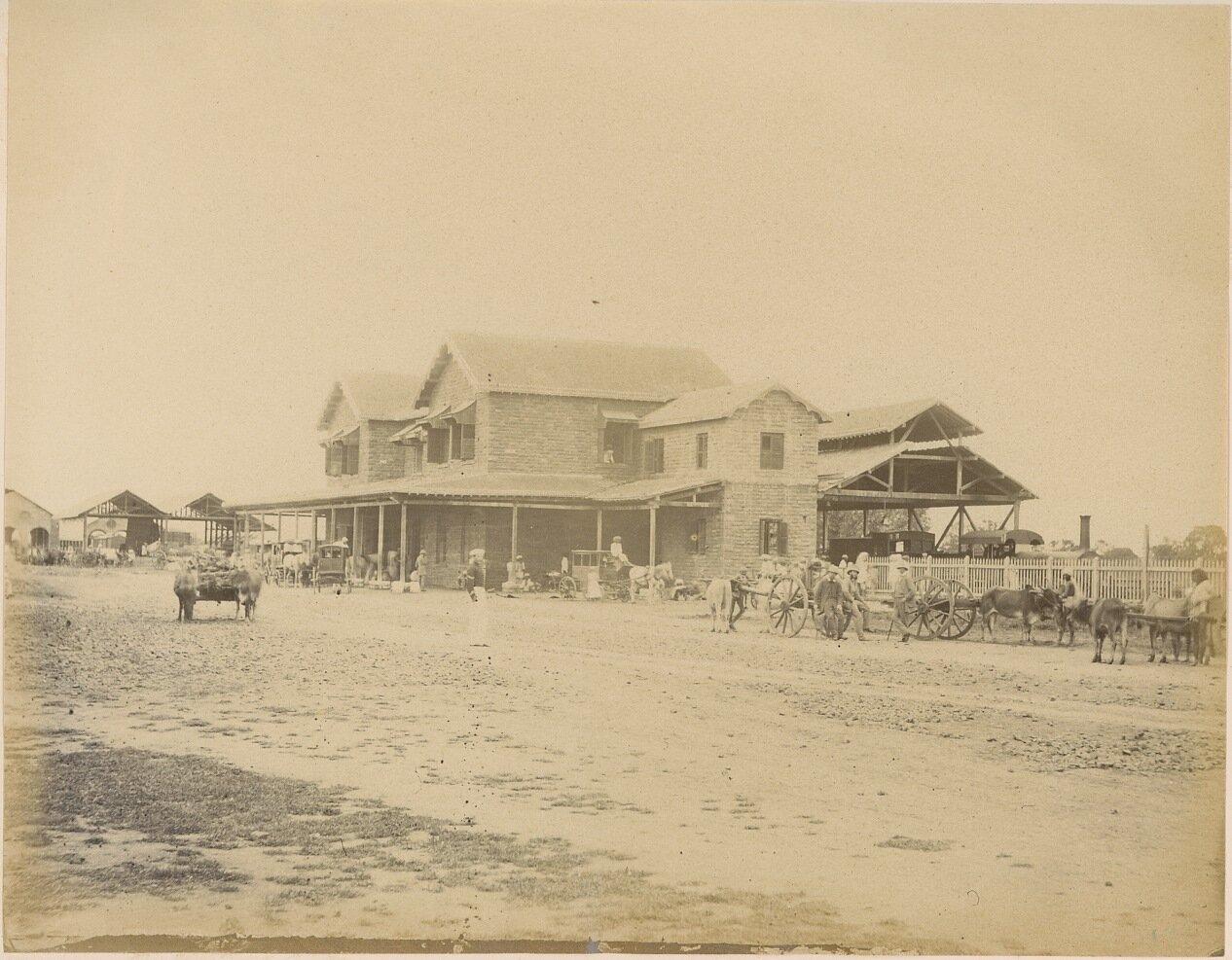 Железнодорожная станция. 1875-80 гг.