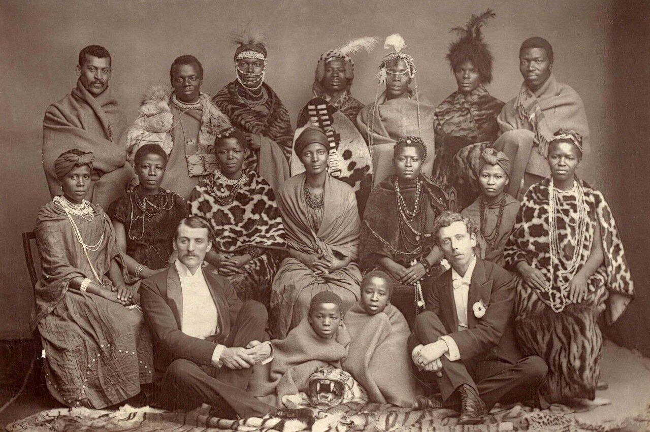 Африканский народный хор. Великобритания, 1891