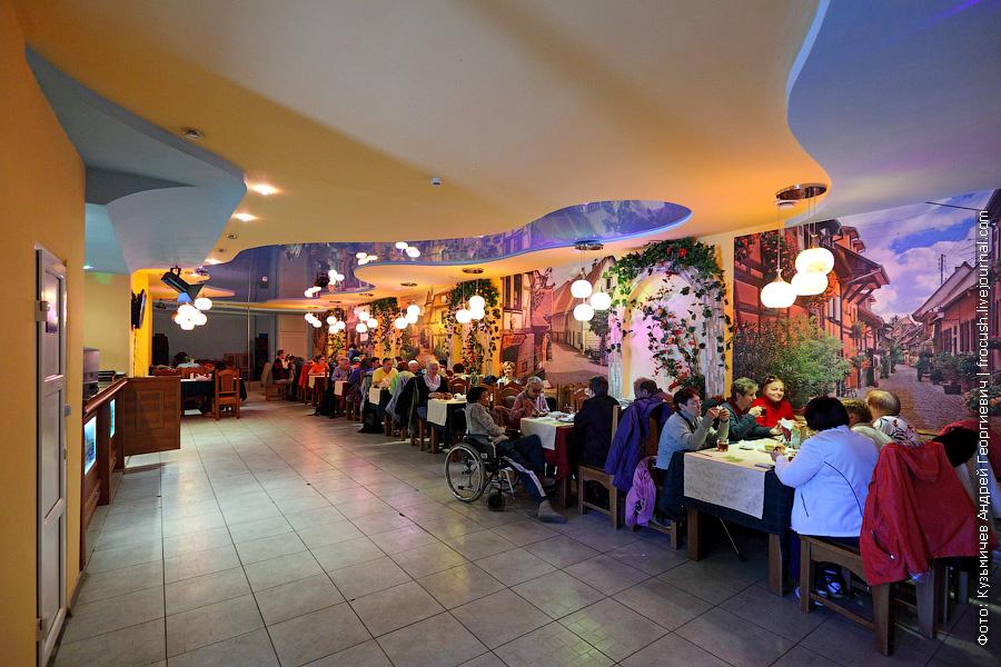 обед в кафе Смак города Советска