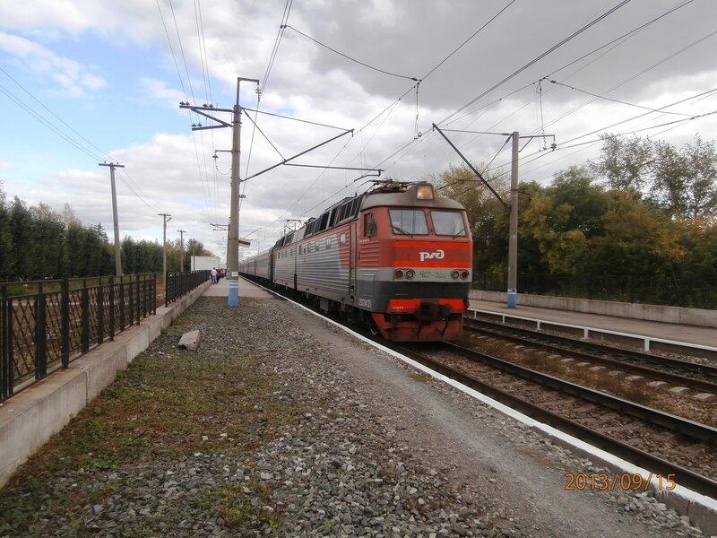 Электровоз ЧС7-206 с поездом № 141