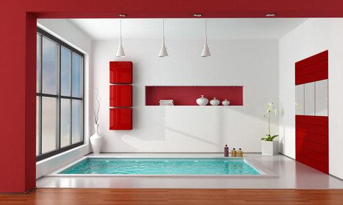 Оформление ванной комнаты в ярком стиле