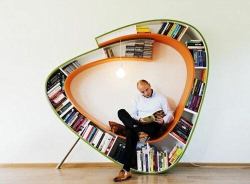 Необычное кресло для любителей чтения