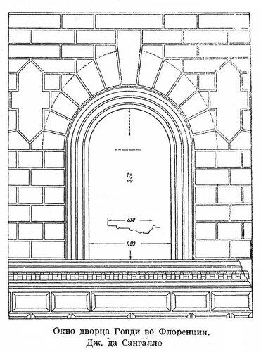 Палаццо Гонди во Флоренции, окно