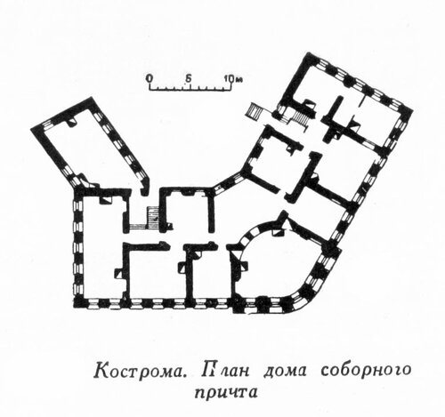 Жилой дом соборного притча, Кострома, план