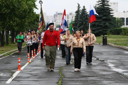 скауты России шагают по городу Пермь