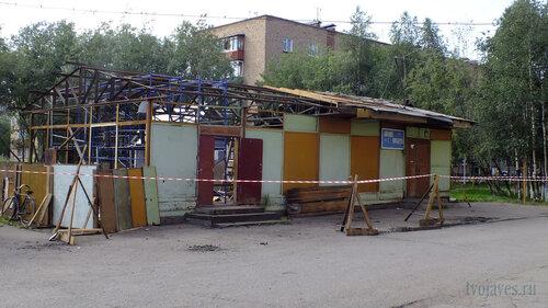 Фотография Инты №5449  Палатка, расположенная во дворе дома по Мира 29 (напротив магазина