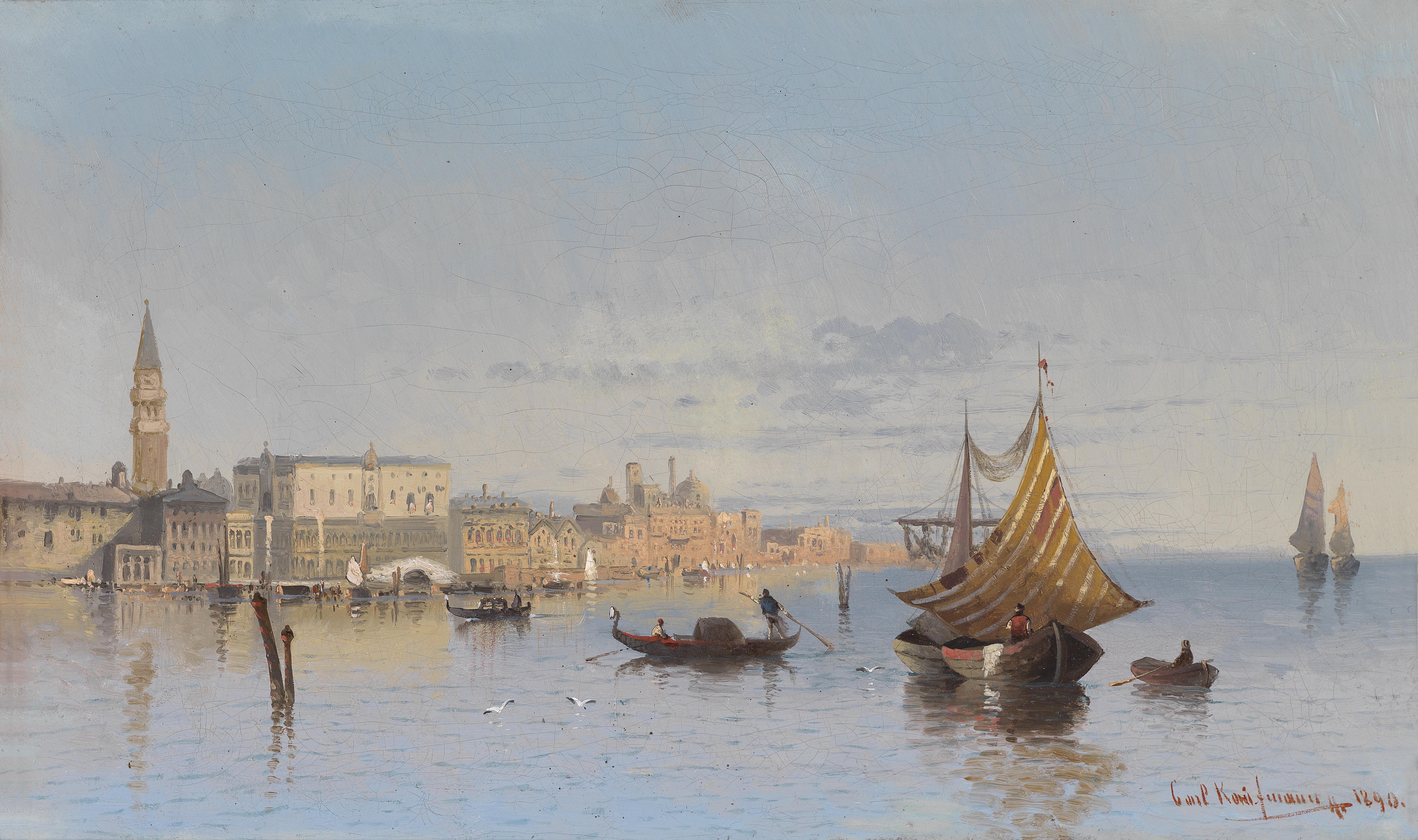 Karl Kaufmann Blick auf Venedig