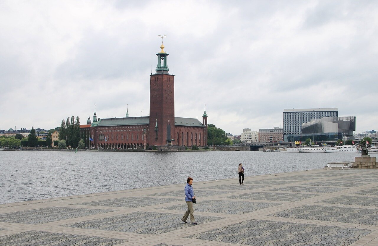 Stockholm. Rathaus. Стокгольм. Ратуша.