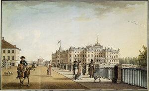Михайловский замок со стороны набережной Фонтанки 1801г.
