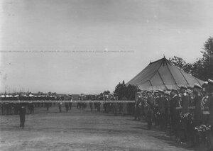 Церемониальный марш измайловцев в день полкового праздника.