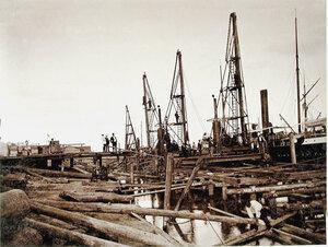 Общий вид строительных работ на набережной