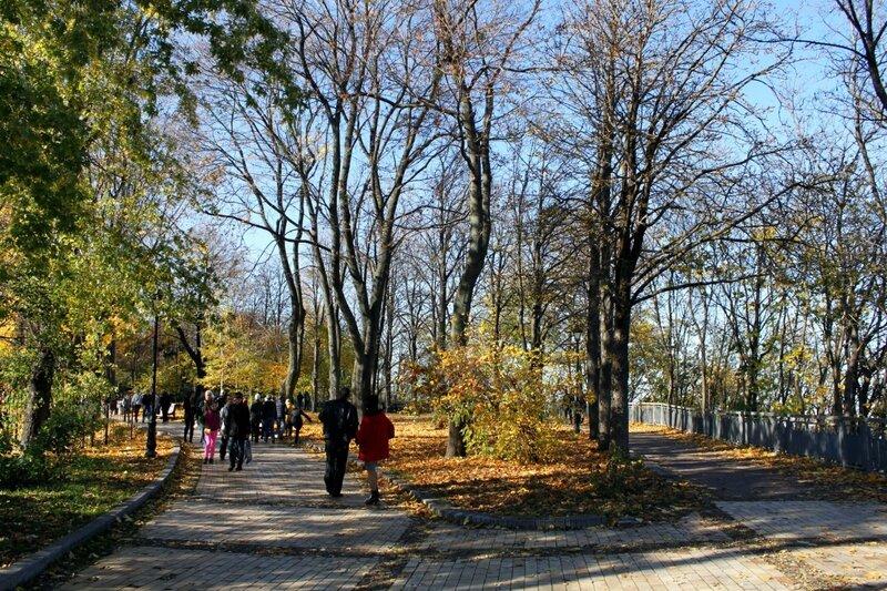 Киев осенью Хрещатый парк