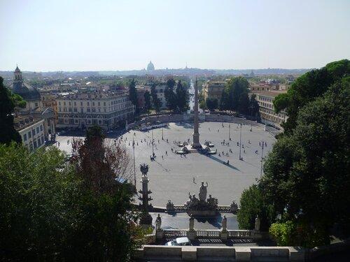 Италия. Рим. Площадь народная - Piazza di Popolo (Italy. Rome.Piazza di Popolo).