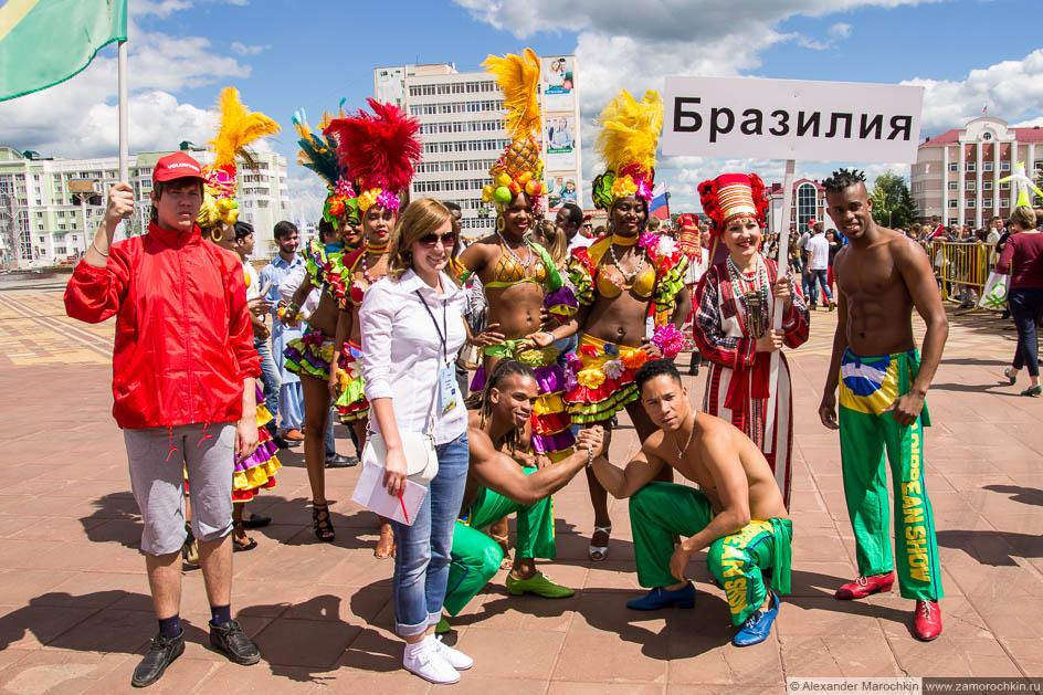 Бразильская делегация на фестивале болельщиков в Саранске