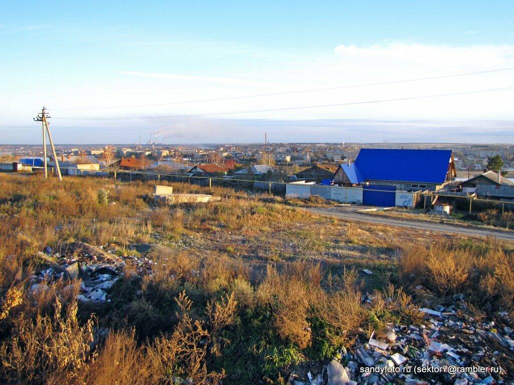 Вид на город Троицк с горы (22-10-2013)