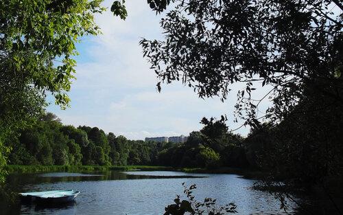Жаркий день и тихий пруд