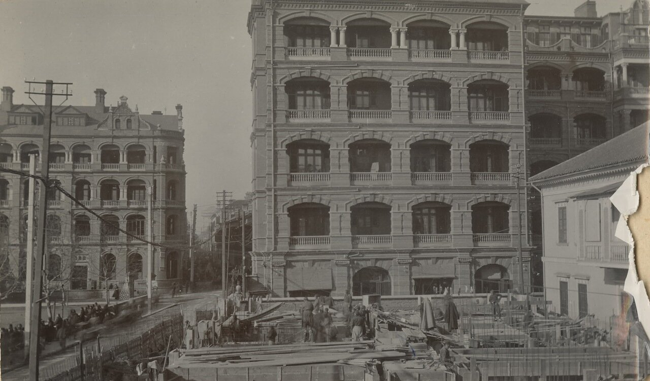Строительство здания телефонной компании в Шанхае