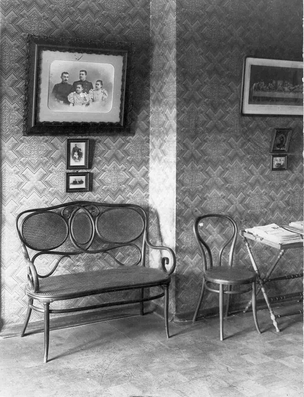 Квартира органиста Л.Ф.Гомилиуса (адрес не установлен).  Интерьер комнаты