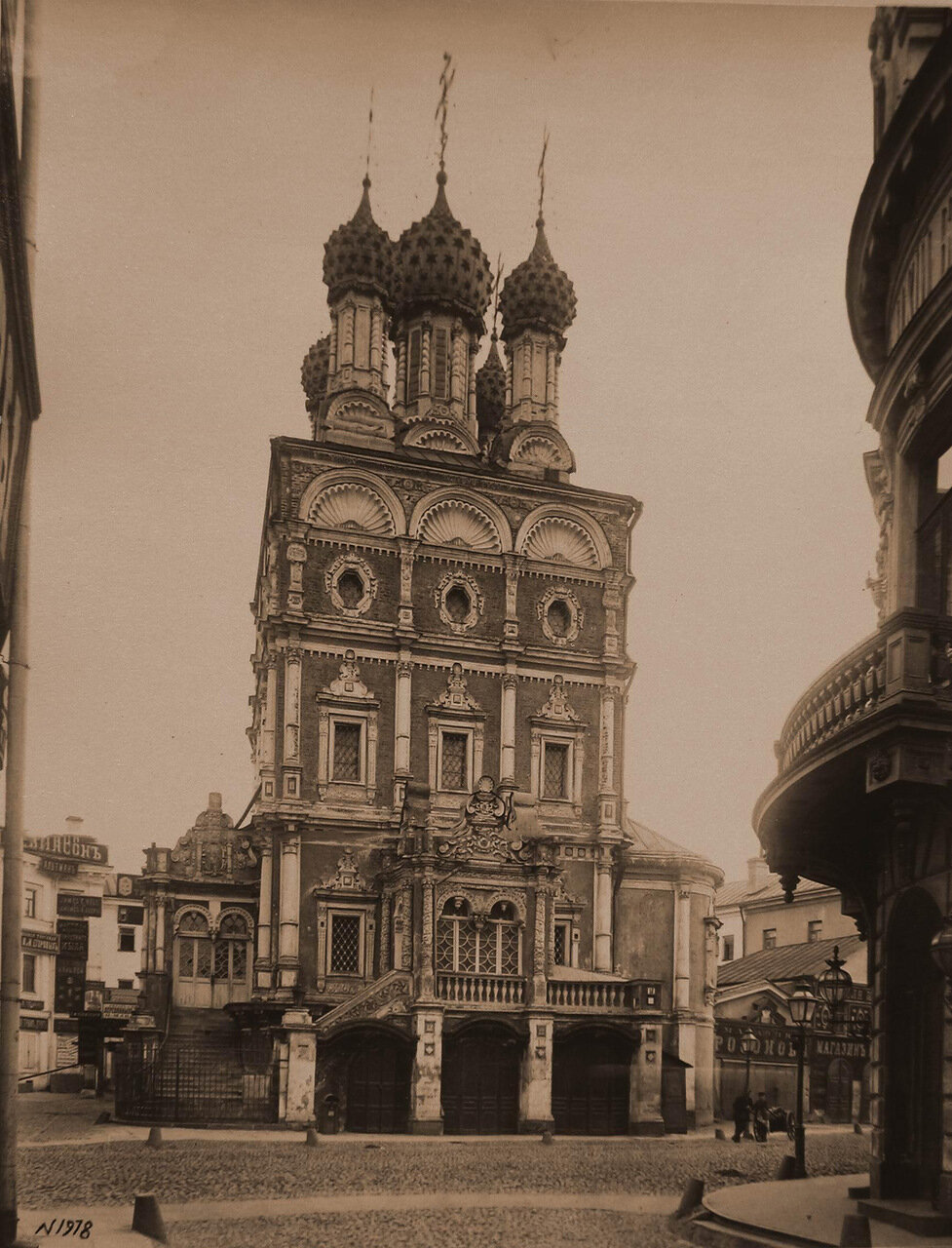 Вид на церковь Николая Чудотворца Большой крест (на Никольской улице)