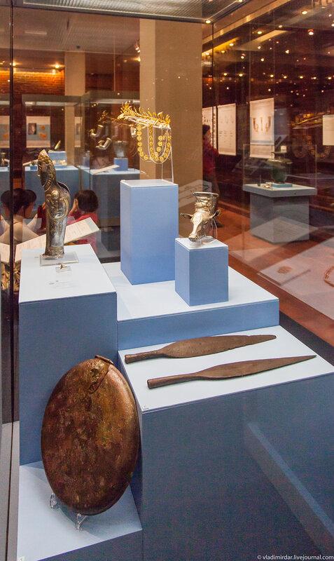Экспозиция выставки Фракийское золото. Ожившие легенды.