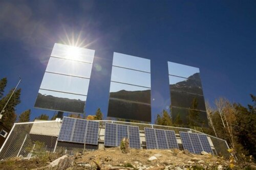 Огромные зеркала будут освещать солнечным светом темный город