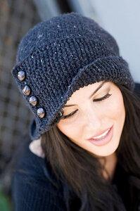 Твидовая шляпка Робин - спицы