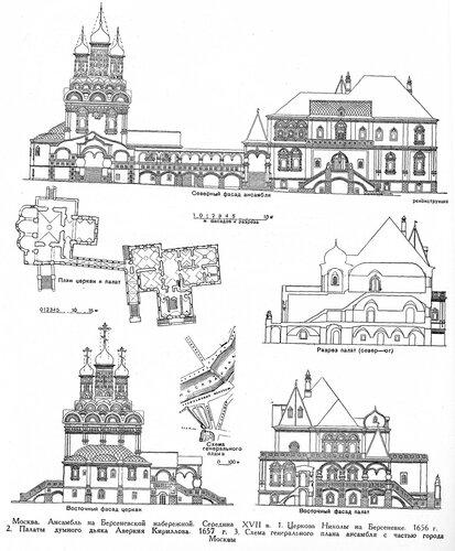 Ансамбль на Берсеневской набережной в Москве, чертежи