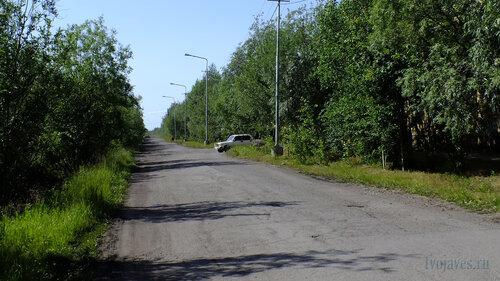 Фотография Инты №5127  Улица Коммунистическая в западном направлении в районе Геологической 1 16.07.2013_12:07
