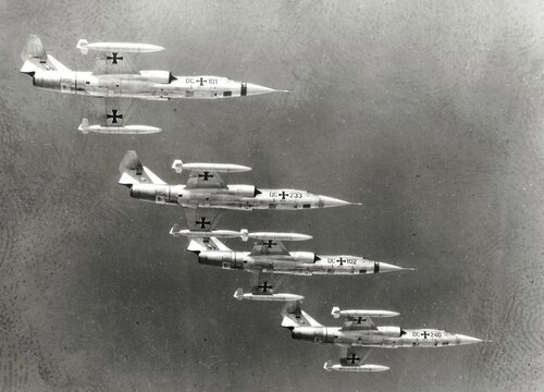 Starfighter F- 104 im Formationsflug