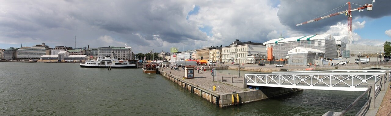 Helsinki, Market square (Kauppatori, Salutorget), panorama