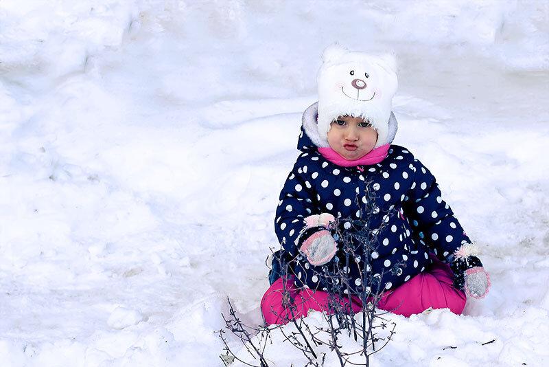 Первый опыт обработки зимнего портрета