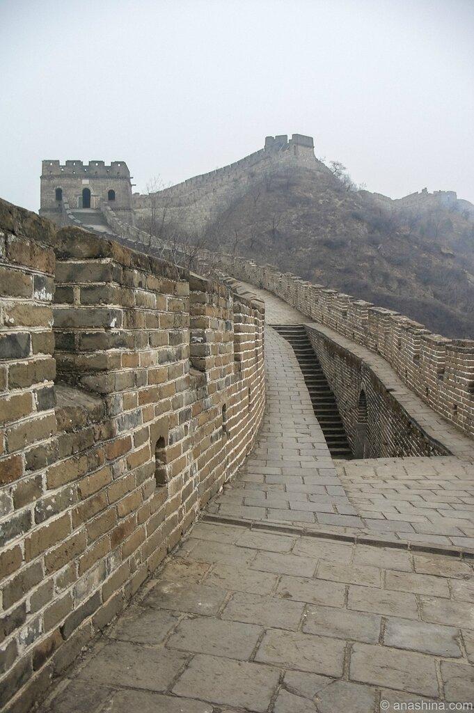Лестница вниз, Мутяньюй, Великая китайская стена