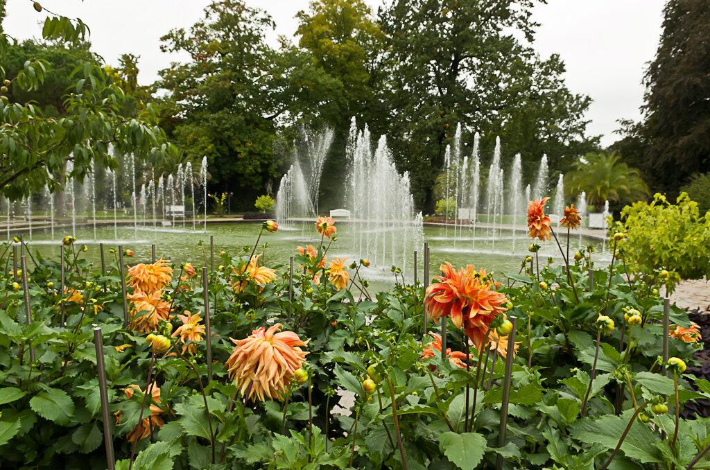 Фонтаны в ботаническом саду Palmengarten