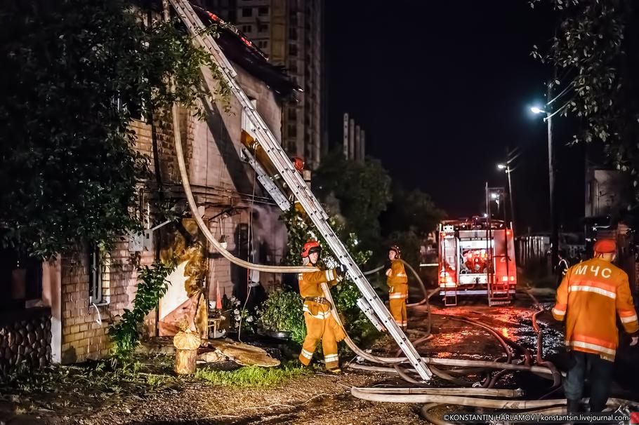 Пожар на улице Амурской