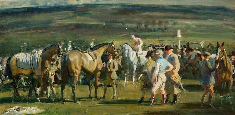 Study for 'The Saddling Paddock, Cheltenham March Meeting'