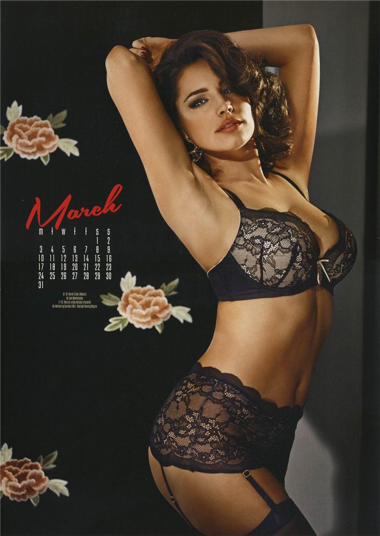 март - Календарь сексуальной красотки, актрисы и модели Келли Брук / Kelly Brook - official calendar 2014