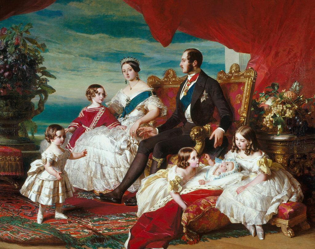 Королевская семья в 1846 году  Подпись и дата 1 846