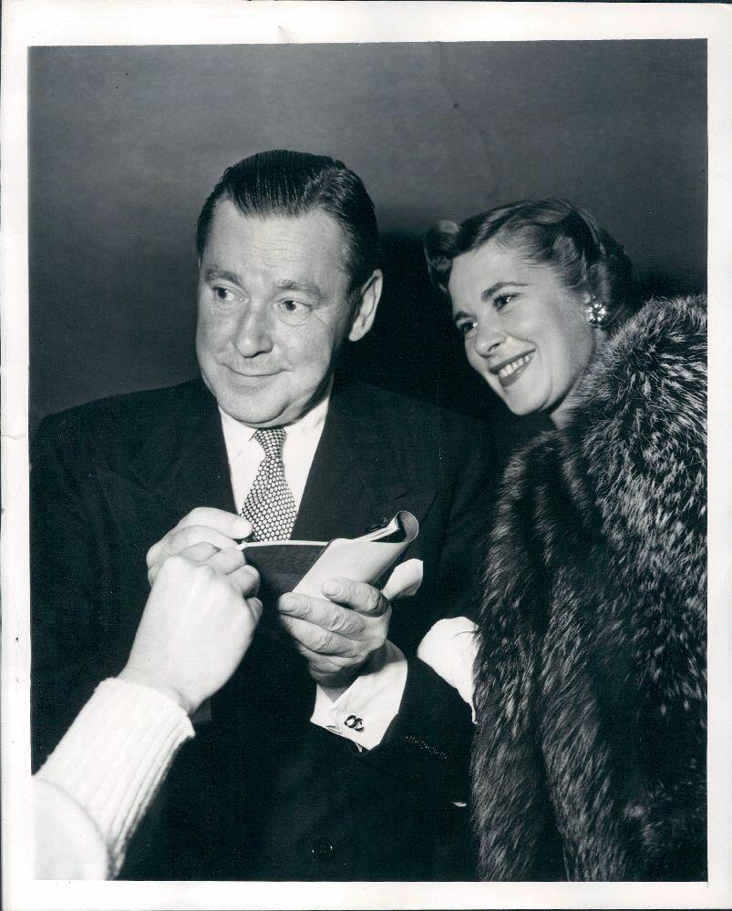 1948. Актерская пара Херберт Маршалл и Бутс Мэллори